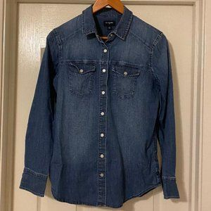 True Religion Denim Button Down (Size Small)
